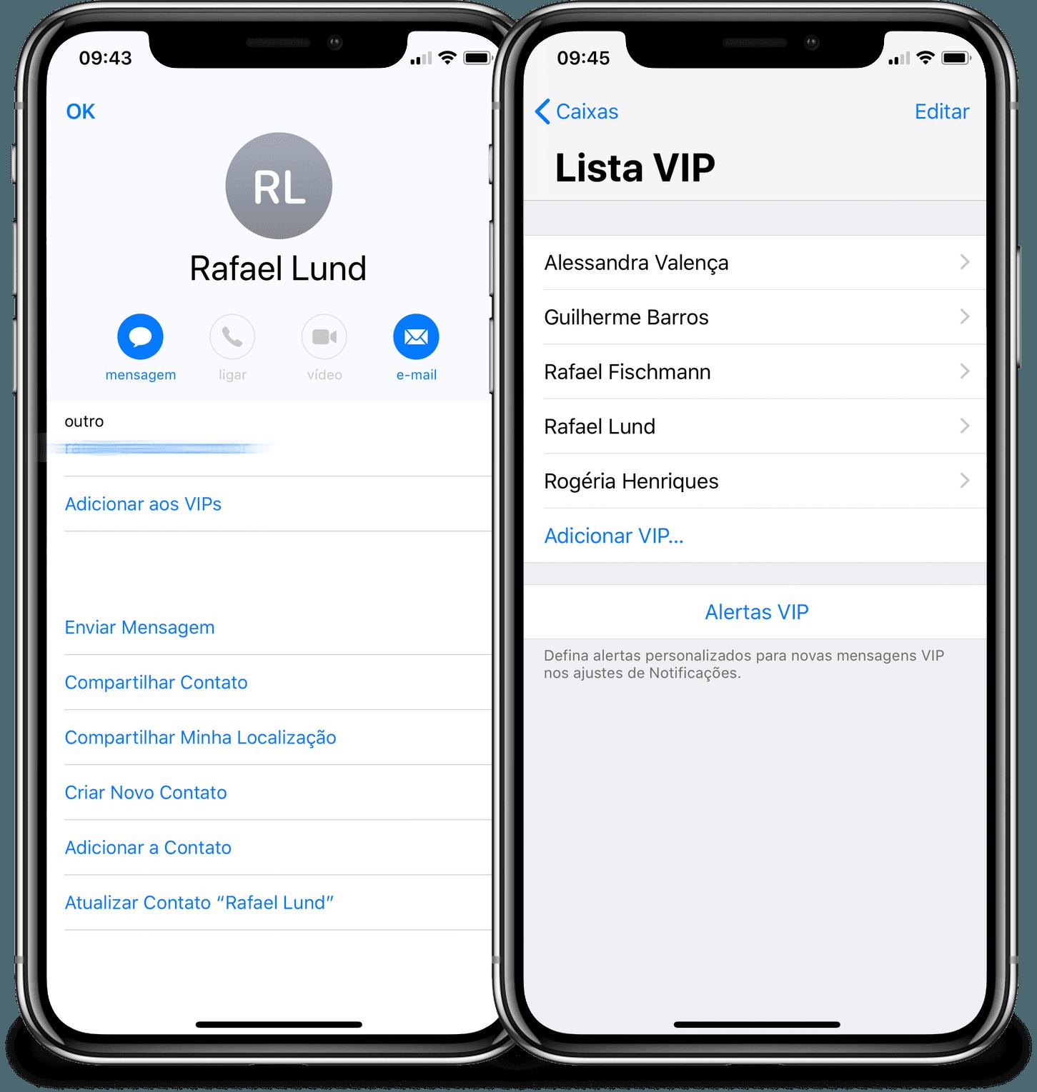 Usando remetentes VIP no Mail do iOS