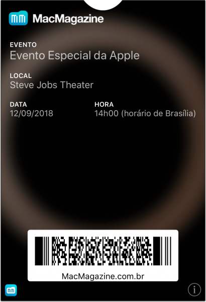 Ticket pro Wallet do evento de 12/9