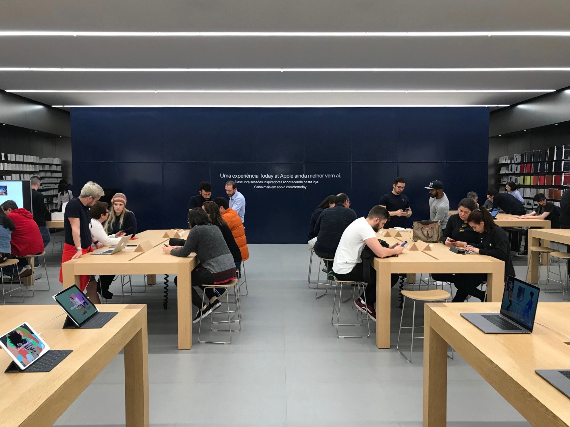 Obra na Apple Morumbi