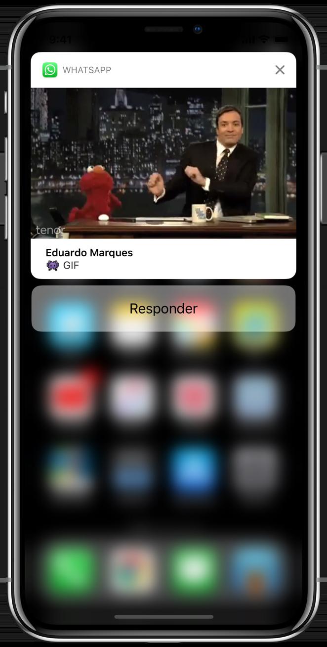 GIF na notificação do WhatsApp