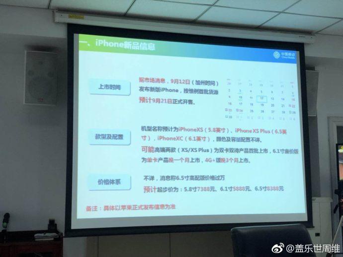 Suposta apresentação da China Mobile