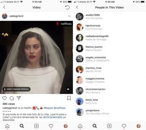 Marcação em vídeos no Instagram