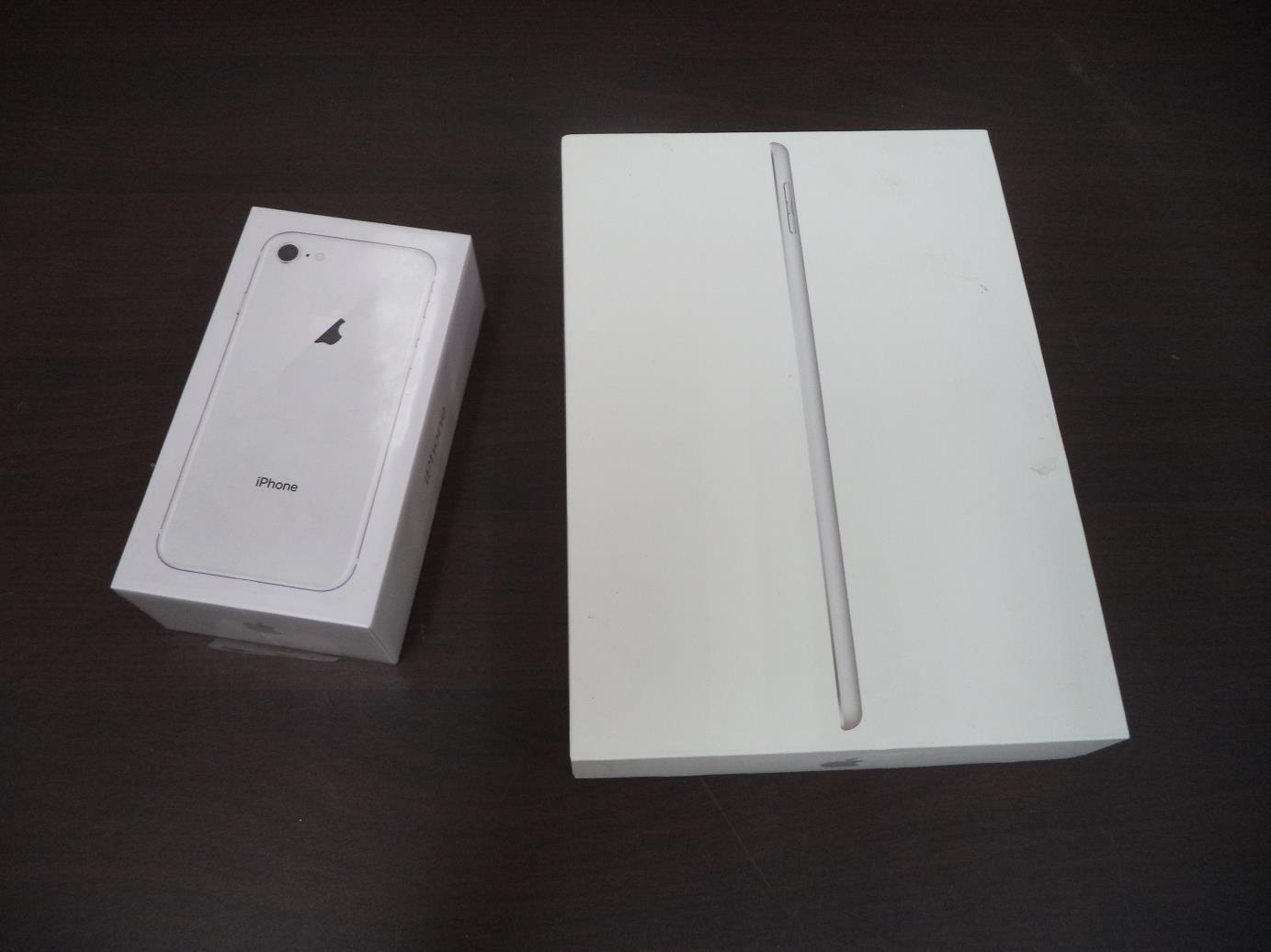 Lote #52 do leilão da Receita Federal: iPad de 9,7″ e iPhone 8