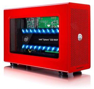 Akitio Node Lite vermelho, drive externo SSD