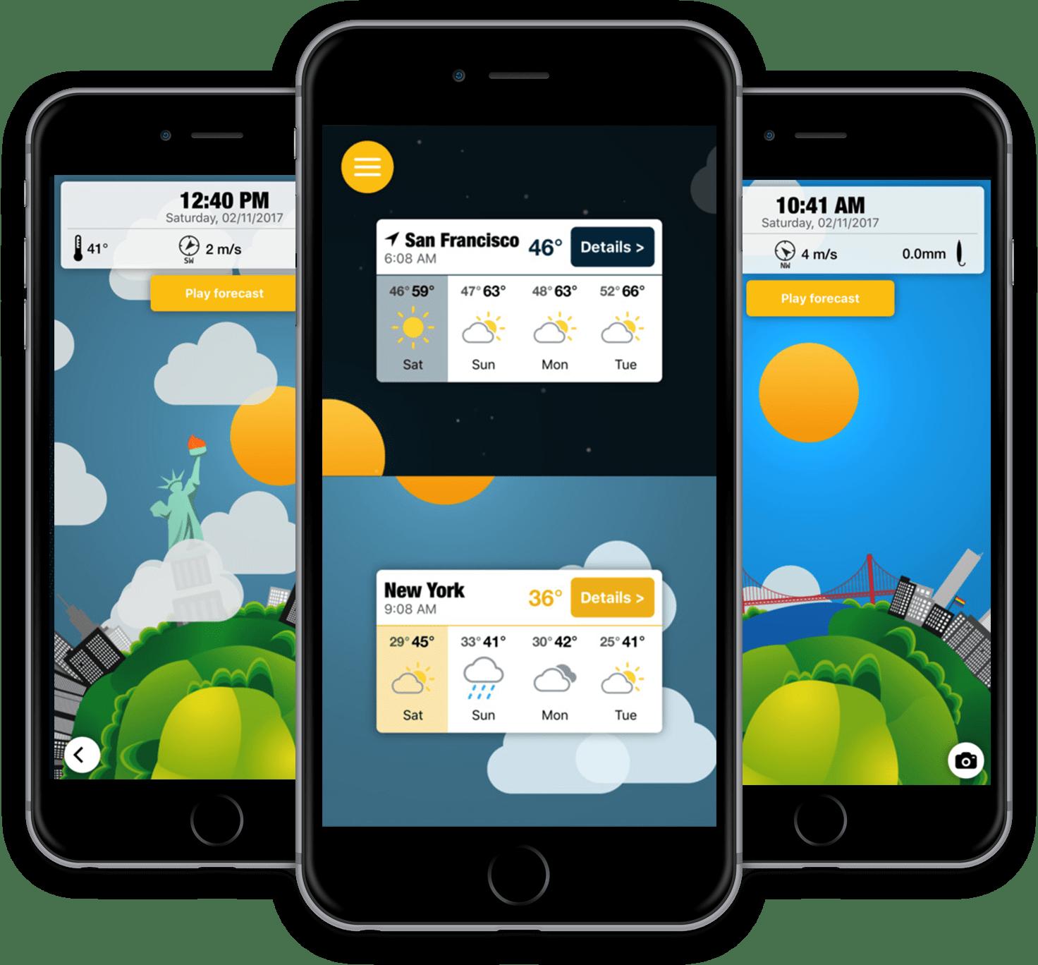 App WeatherWheel para iOS