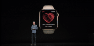 Recurso de eletrocardiograma (ECG) no Apple Watch Series 4