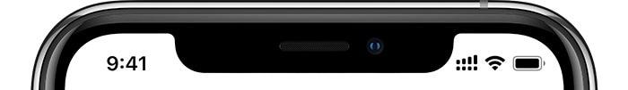 Barra de sinal de um iPhone com Dual SIM