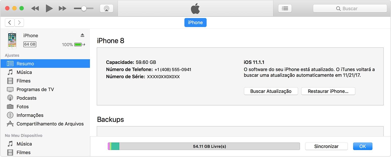 Atualização do iOS pelo iTunes