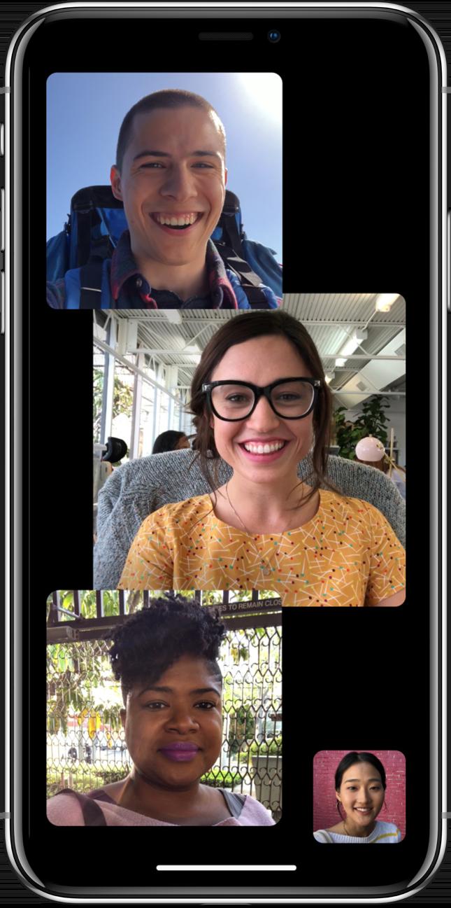 FaceTime em grupo no iOS 12