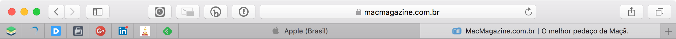 Favicons no Safari do macOS 10.14 Mojave