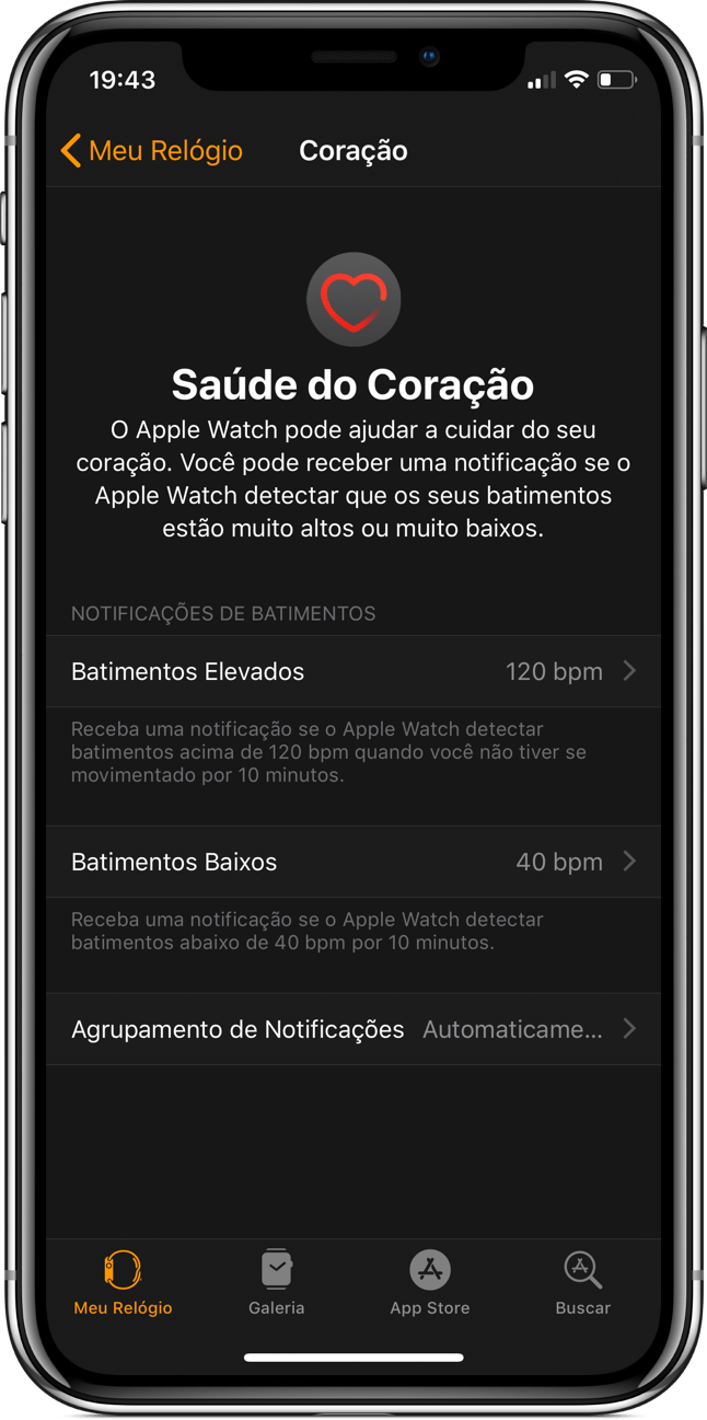 Batimentos no watchOS 5