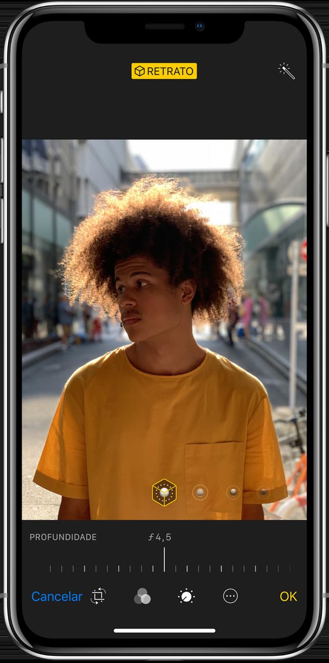 Controle de Profundidade no iPhone XS