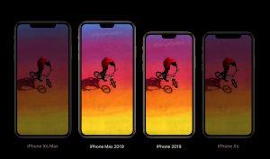 Render dos iPhones de 2019 com notch menor