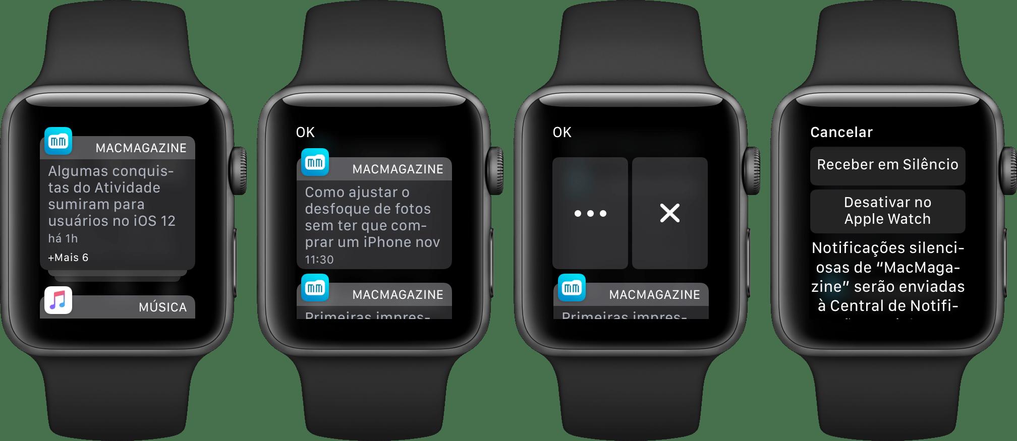 Notificações no watchOS 5