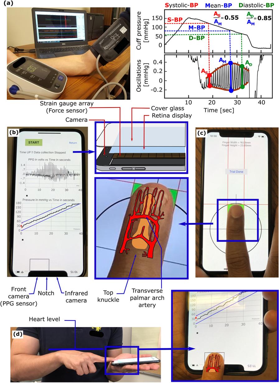 Teste de pressão sanguínea no iPhone X