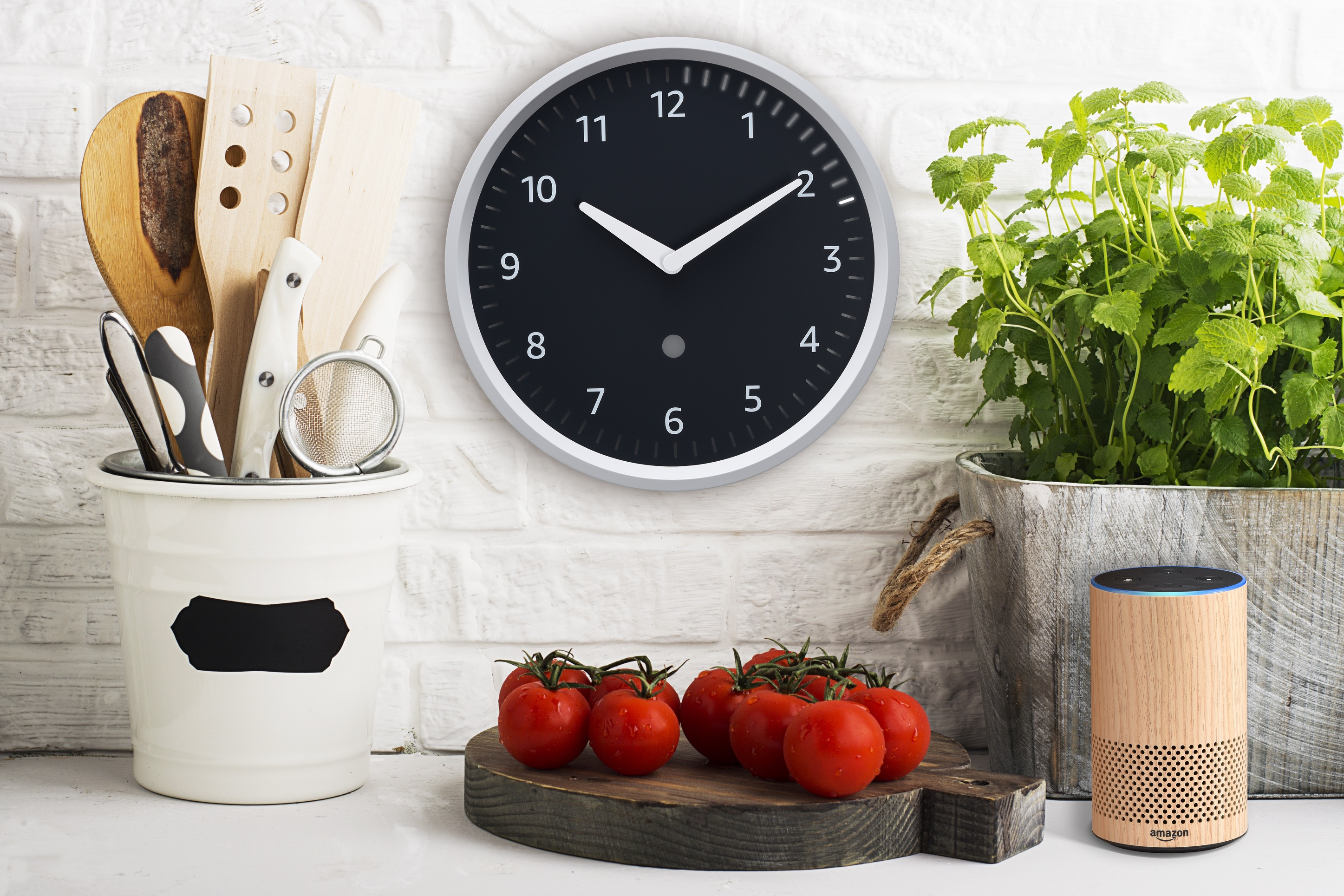 Amazon Echo Wall Clock Kitchen