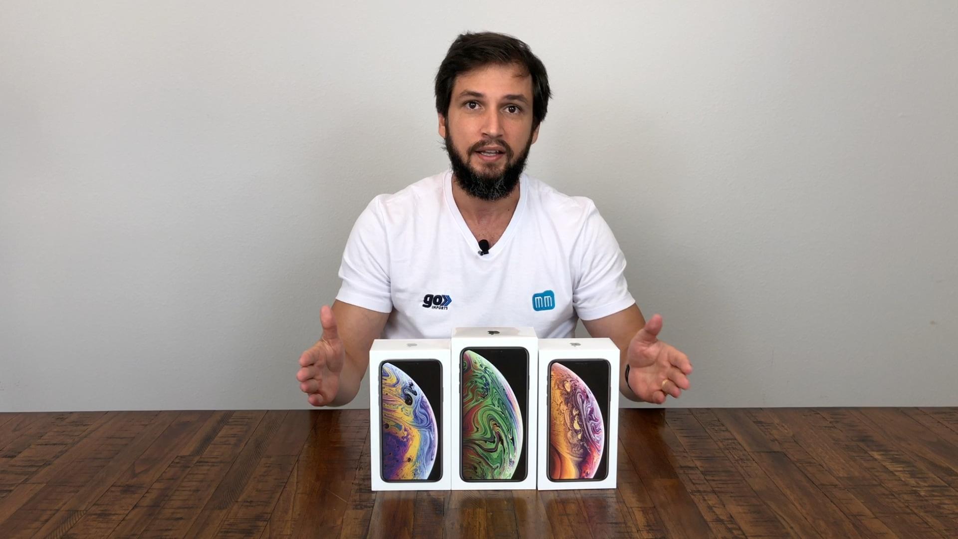 Unboxing dos iPhones XS e XS Max