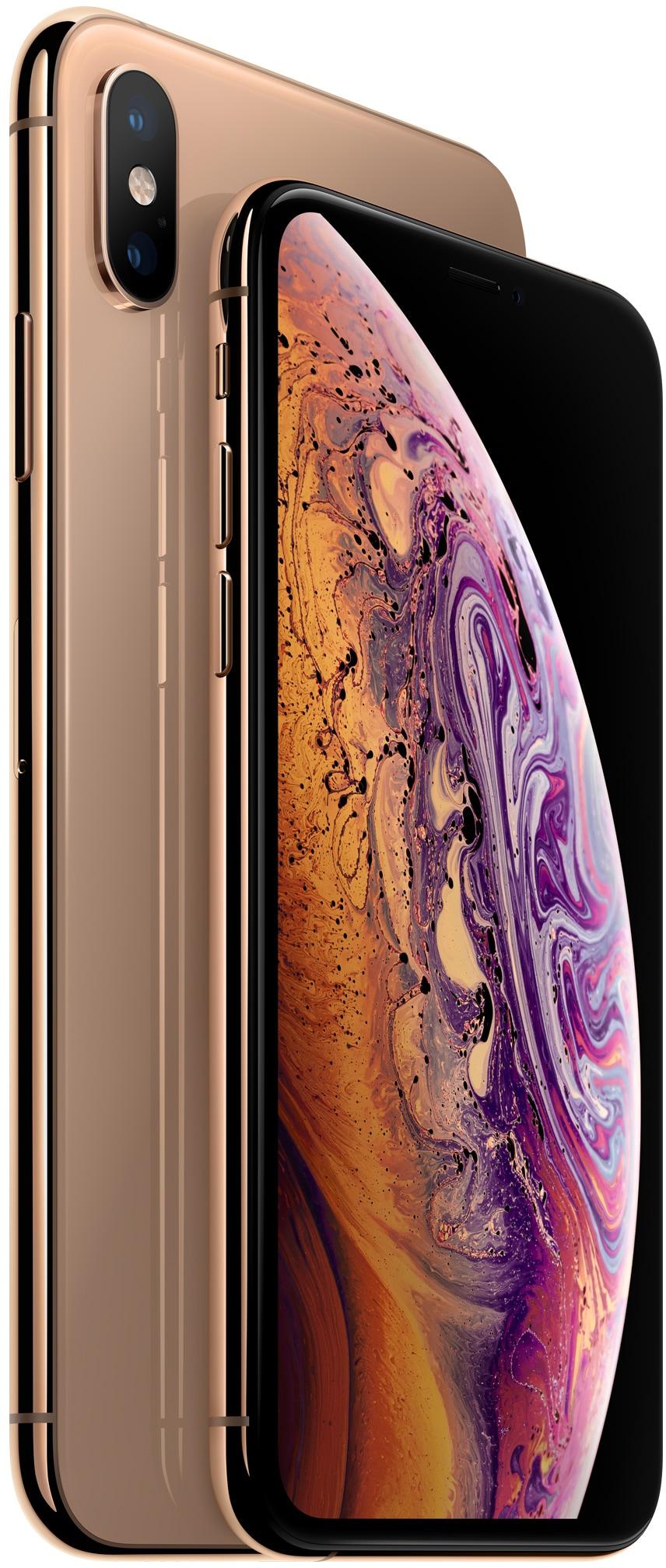 iPhone Xs e Xs Max em dourado