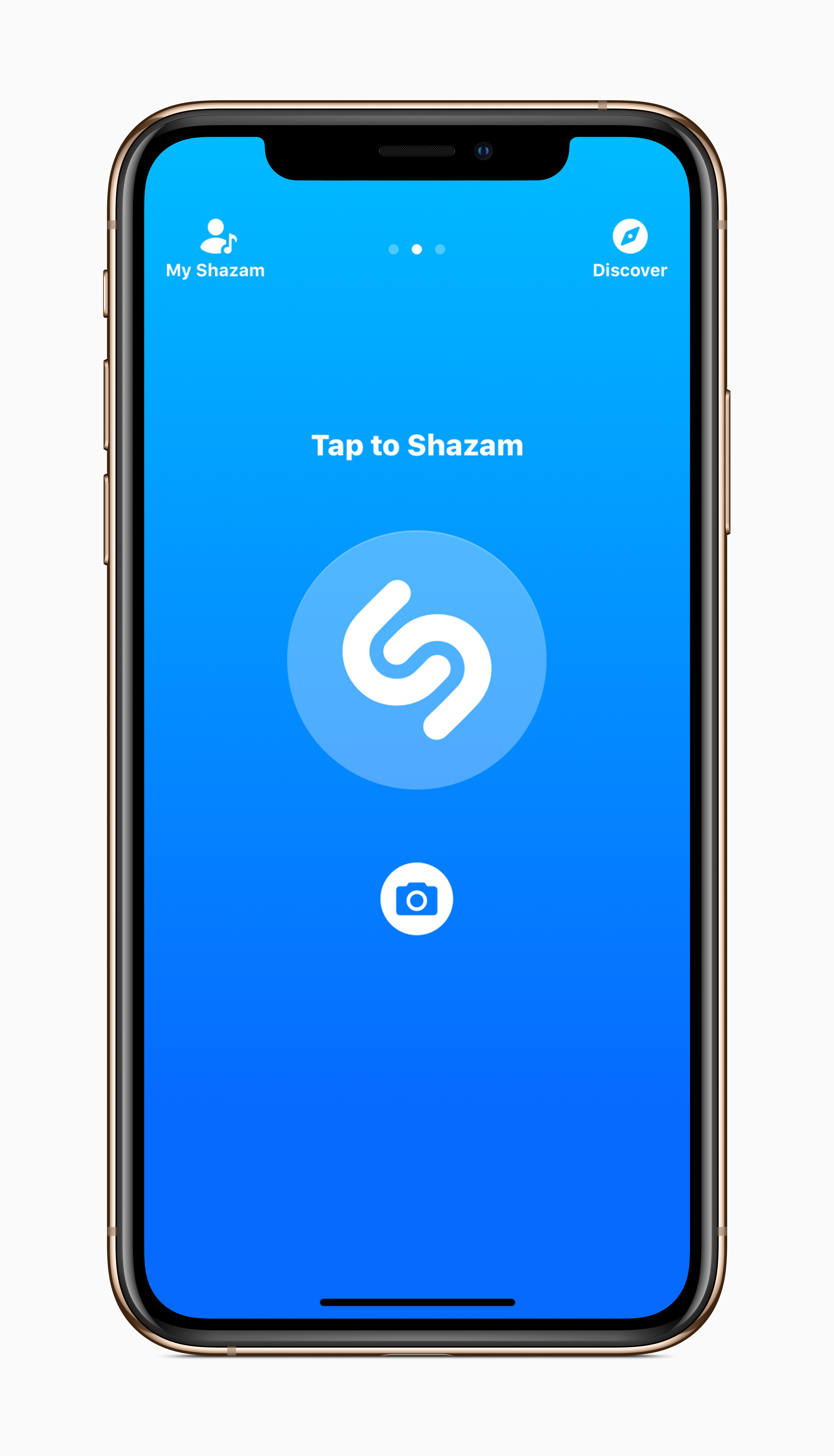 Screenshot do Shazam em iPhone