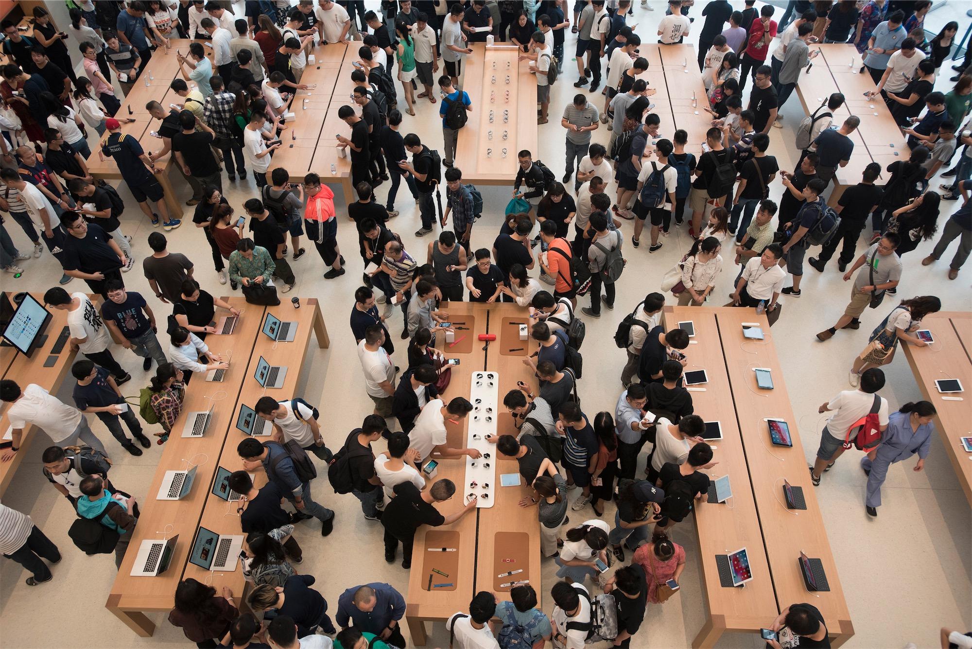Lançamento dos novos iPhones e Apple Watch em lojas da Apple
