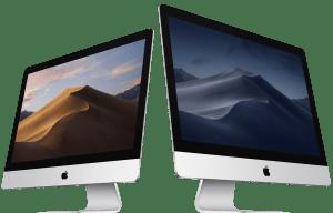 iMacs com o macOS Mojave