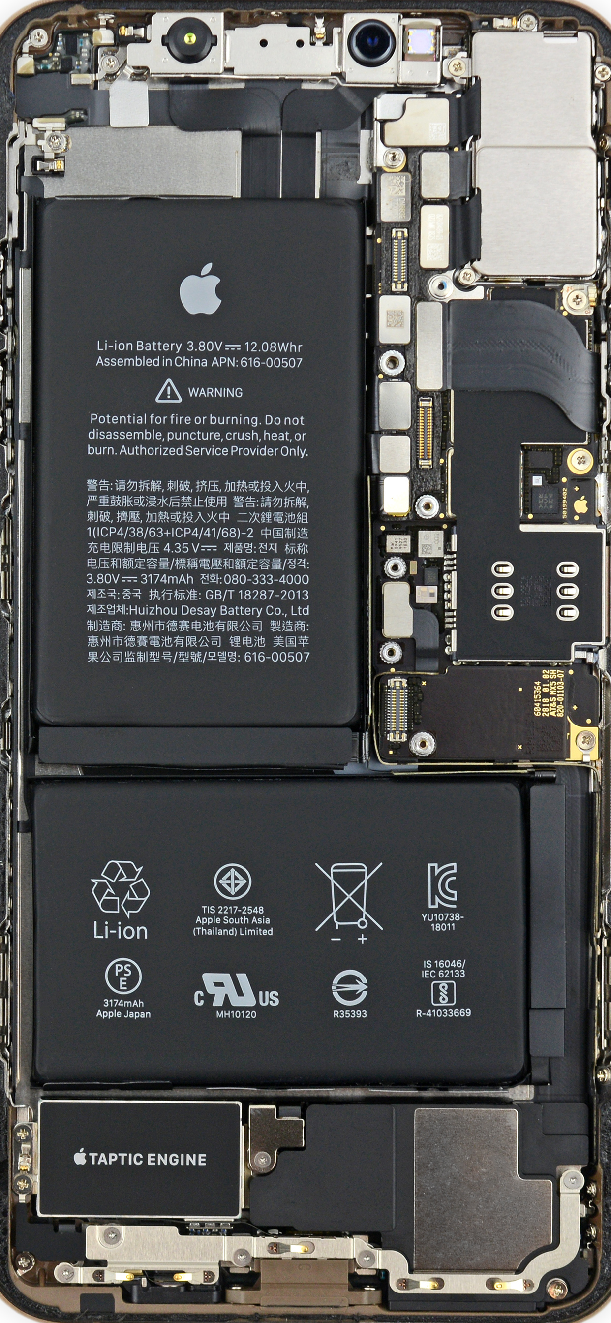 Wallpaper do iPhone XS Max (iFixit)