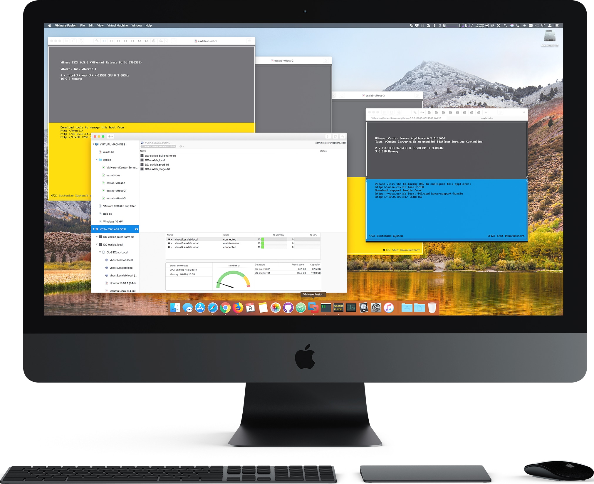 Fusion 11 no iMac Pro