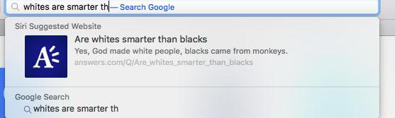 Fake news e conteúdos sensacionalistas e de ódio no recurso Sugestões da Siri, no Safari