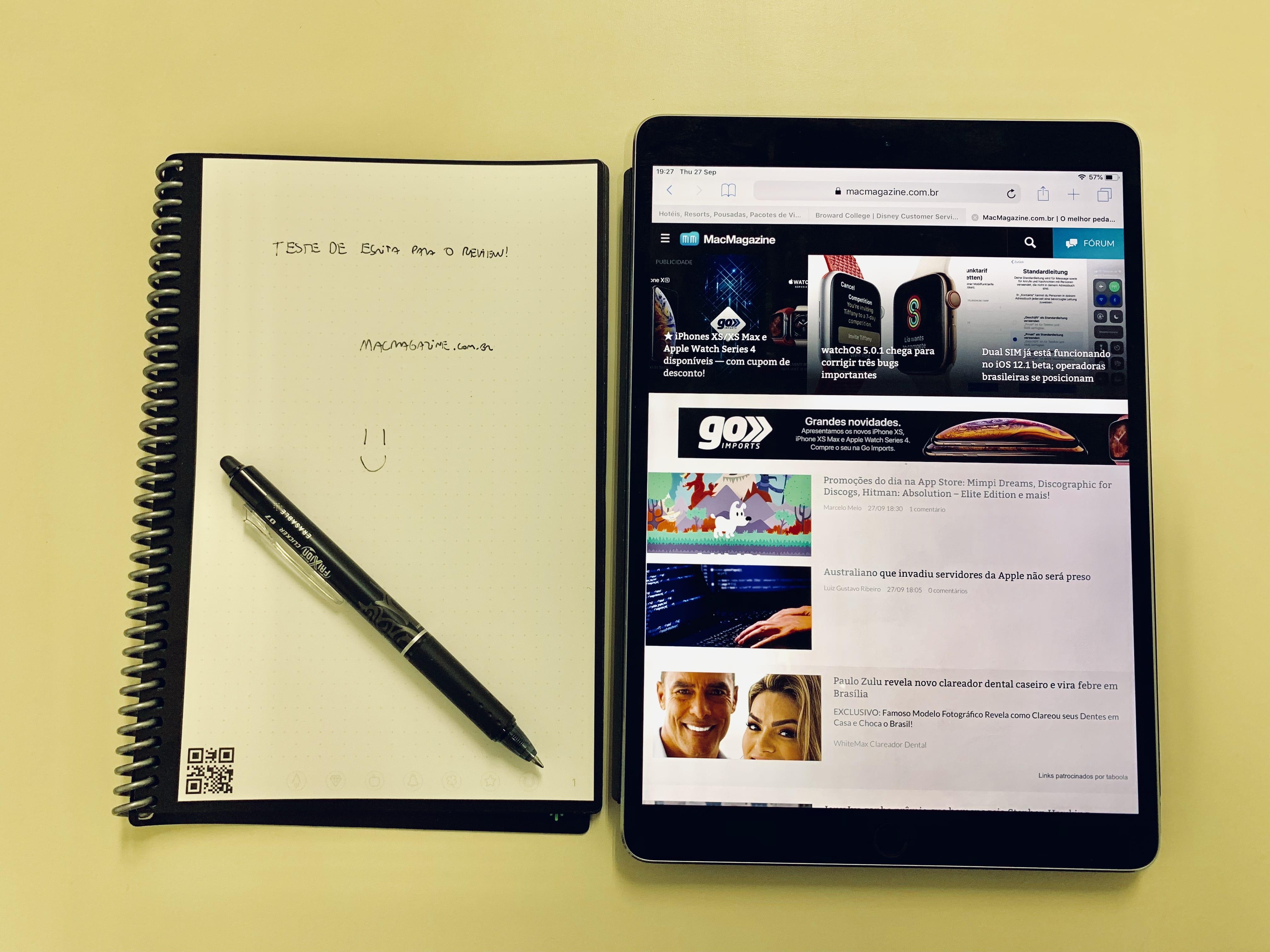 Que tal um caderno reutilizável que envia suas anotações para a ...