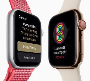 Competições do watchOS 5 no Apple Watch Series 4