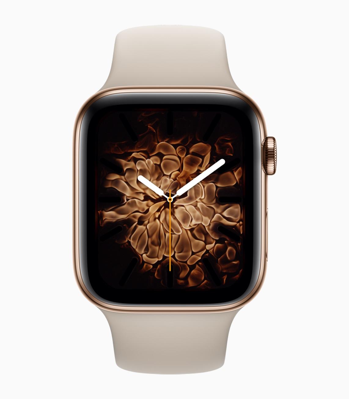 Mostrador de fogo no Apple Watch Series 4