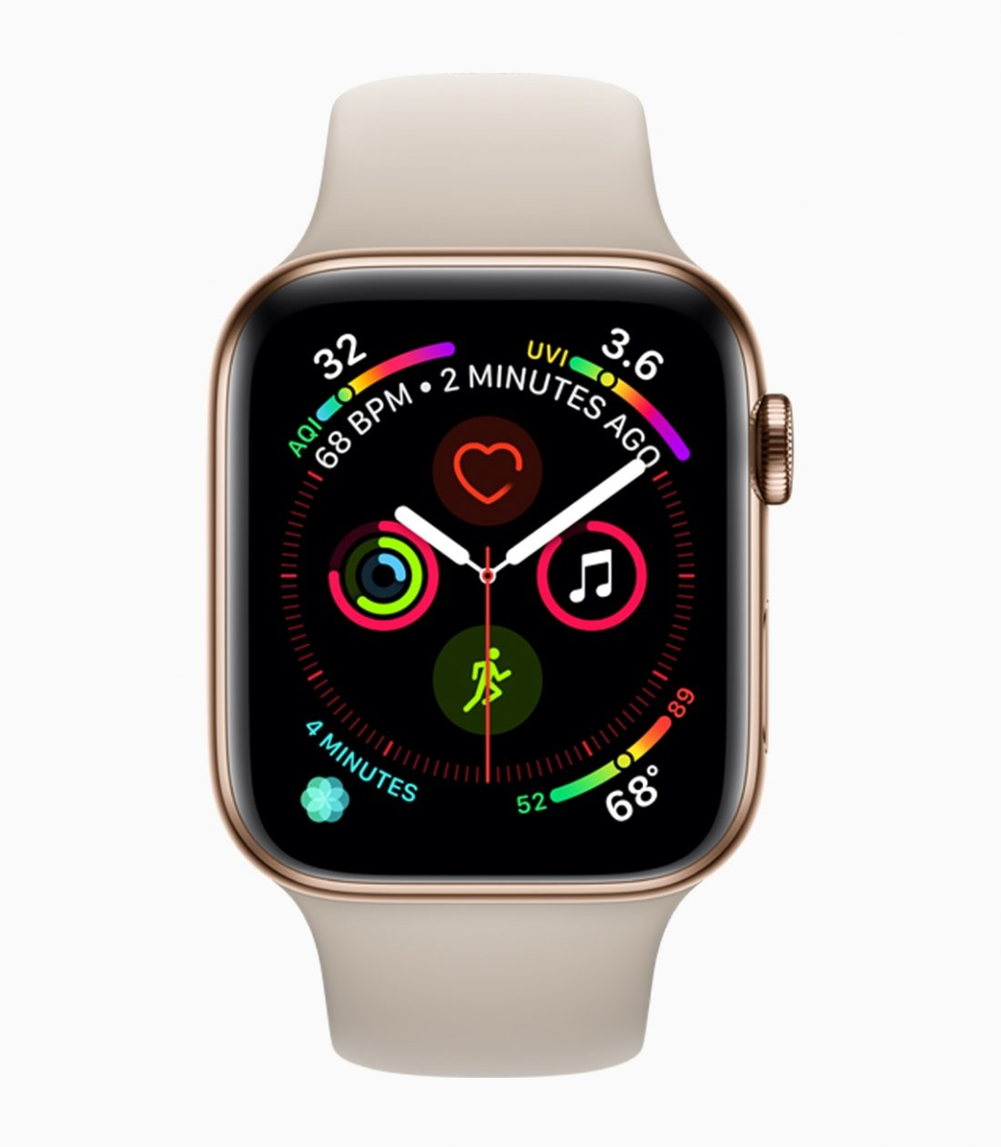 Apple Watch Series 4 com mostrador cheio de complicações