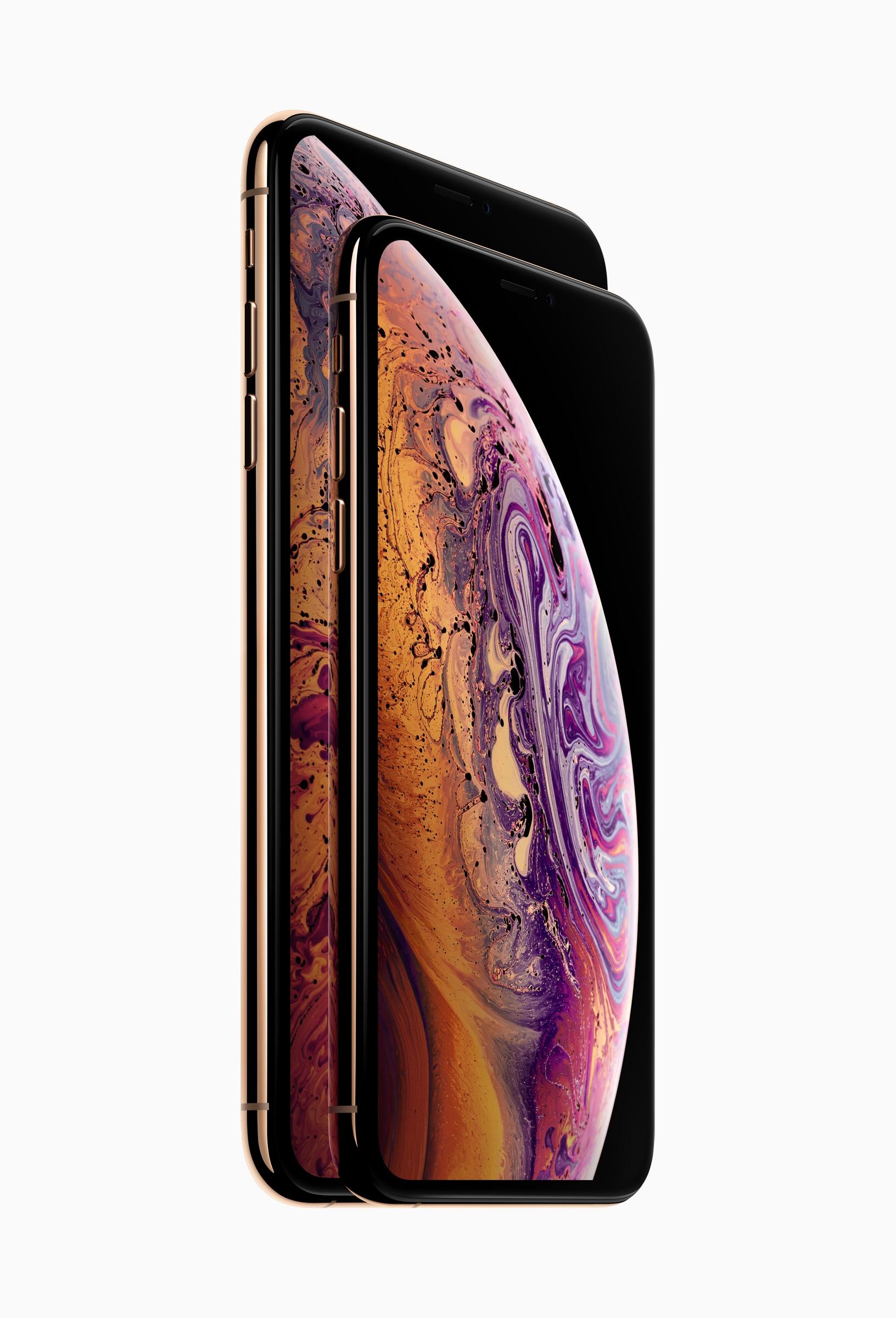 iPhone Xs e Xs Max de frente