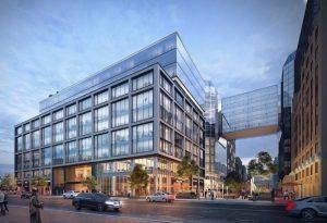 Anthem Row, prédio empresarial em Washington onde a Apple pode abrir novos escritórios
