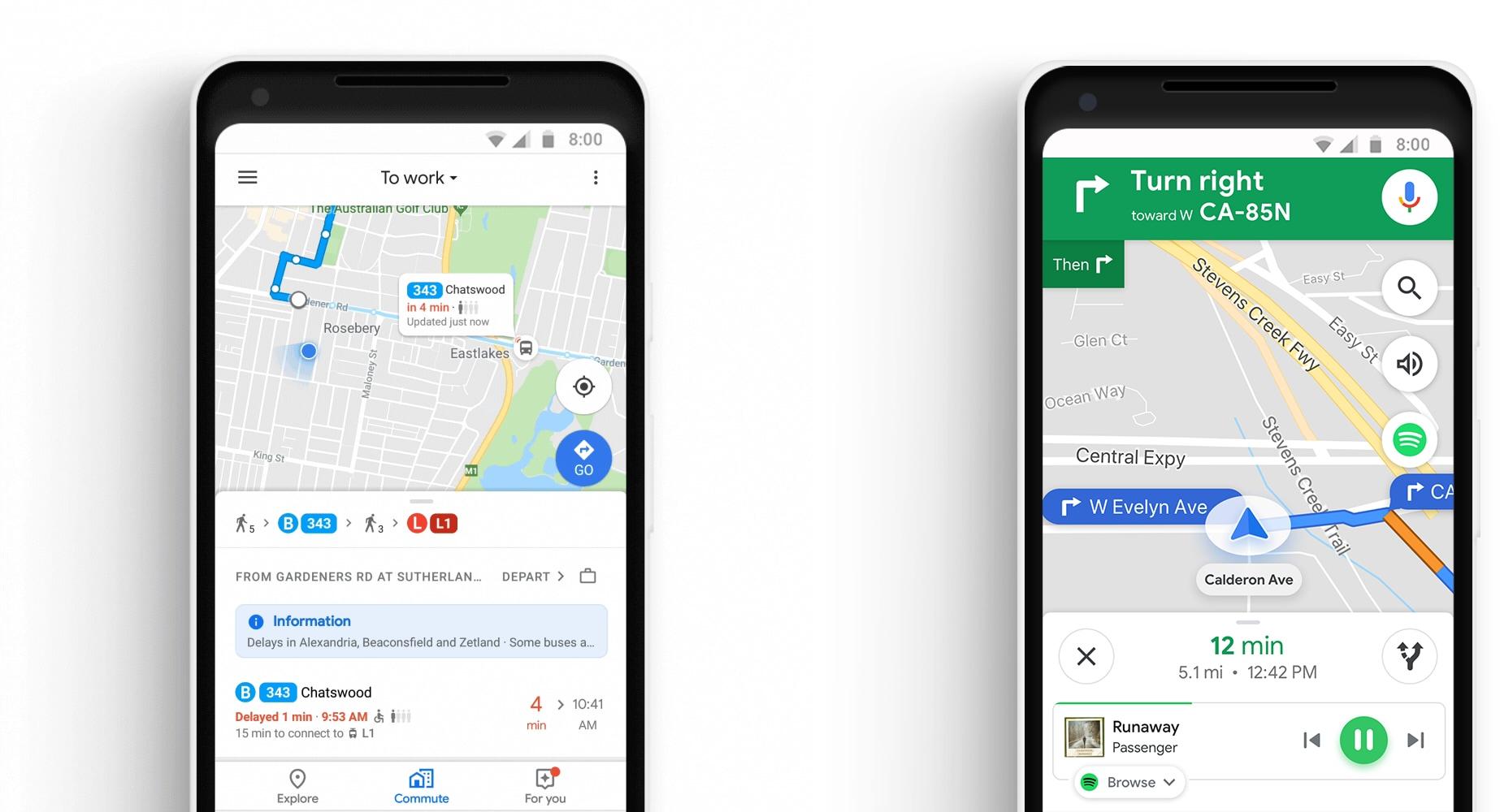 Novos recursos do Google Maps