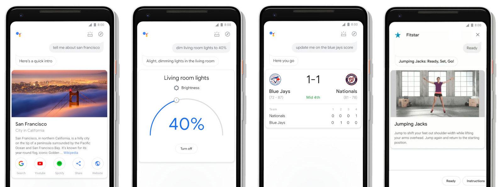 Novo design da Google Assistente