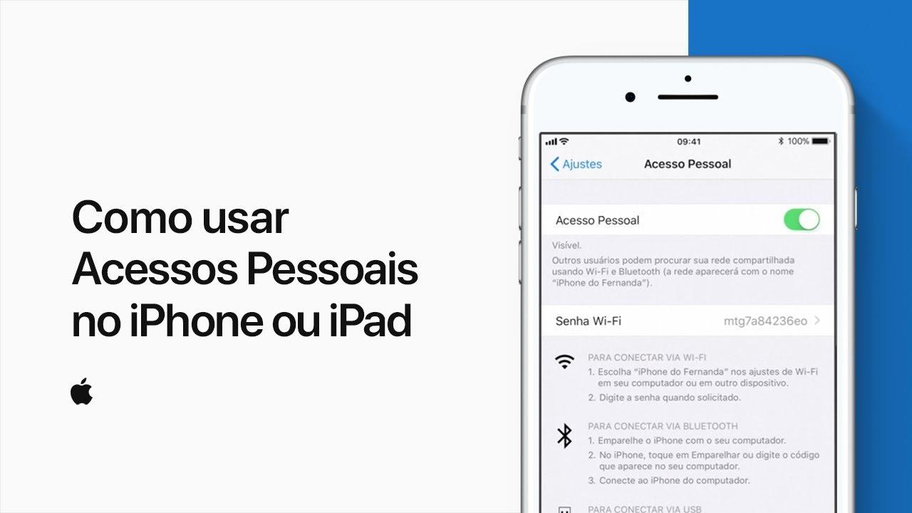 Vídeo da Apple sobre o recurso Acesso Pessoal