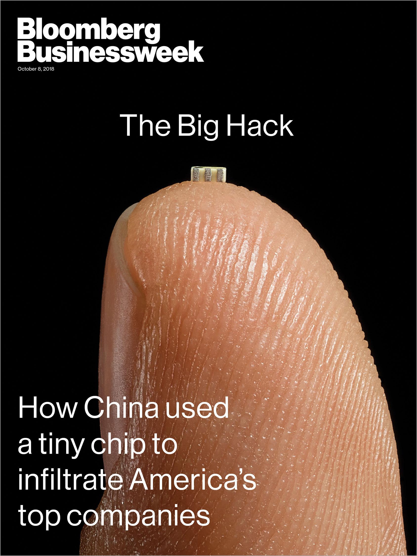 Capa da Bloomberg Businessweek sobre possível espionagem da China