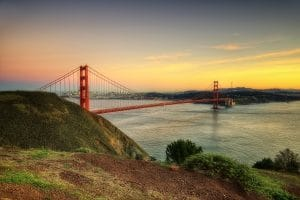 Ponte Golden Gate em San Francisco (Califórnia)