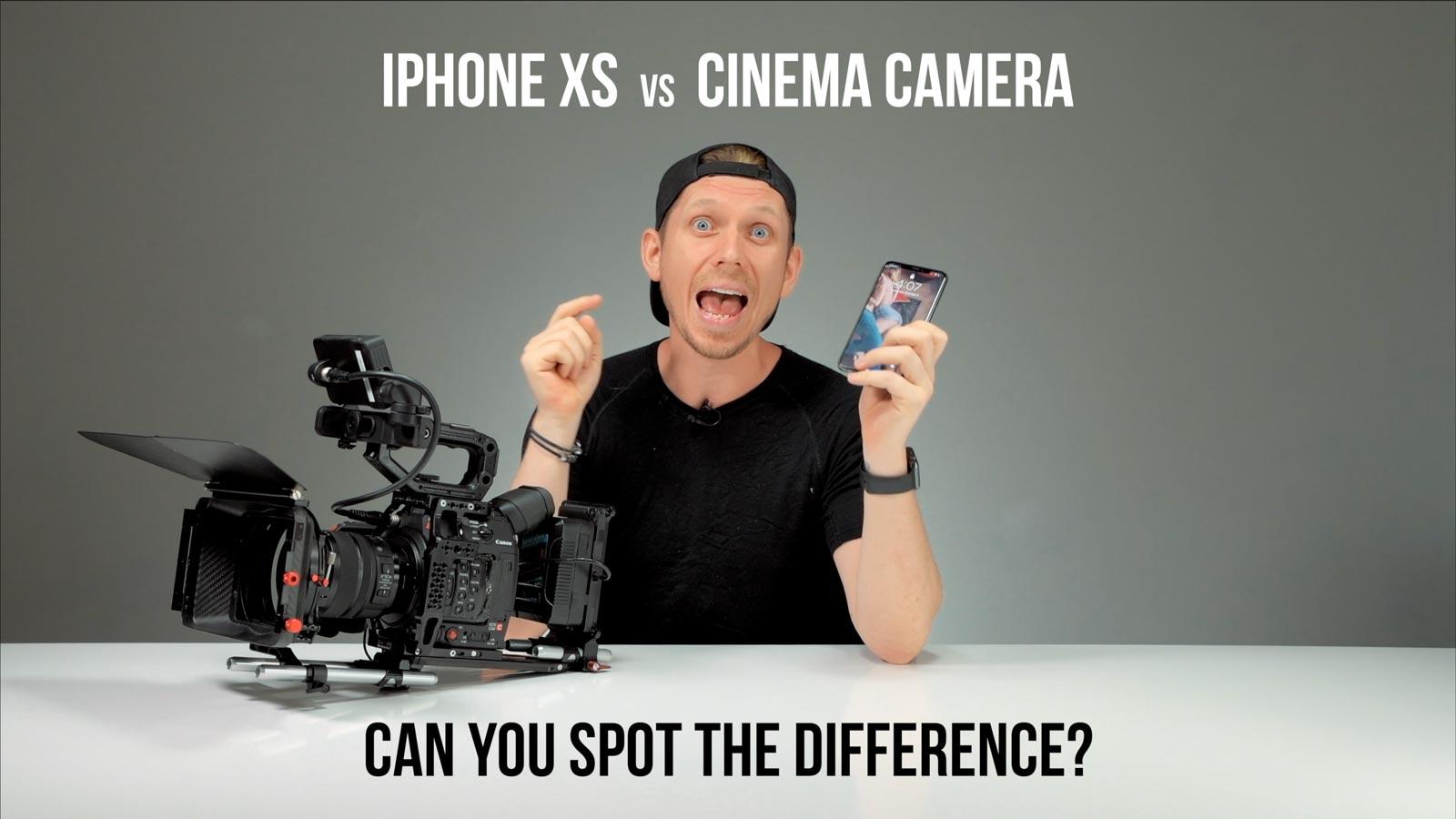 iPhone XS vs. Canon C200