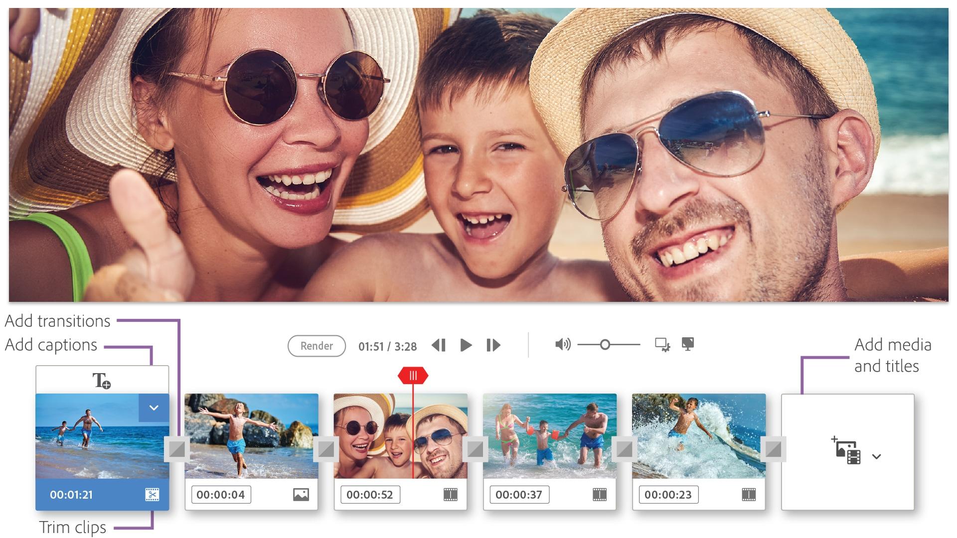 Edição rápida no Adobe Premiere Elements 2019