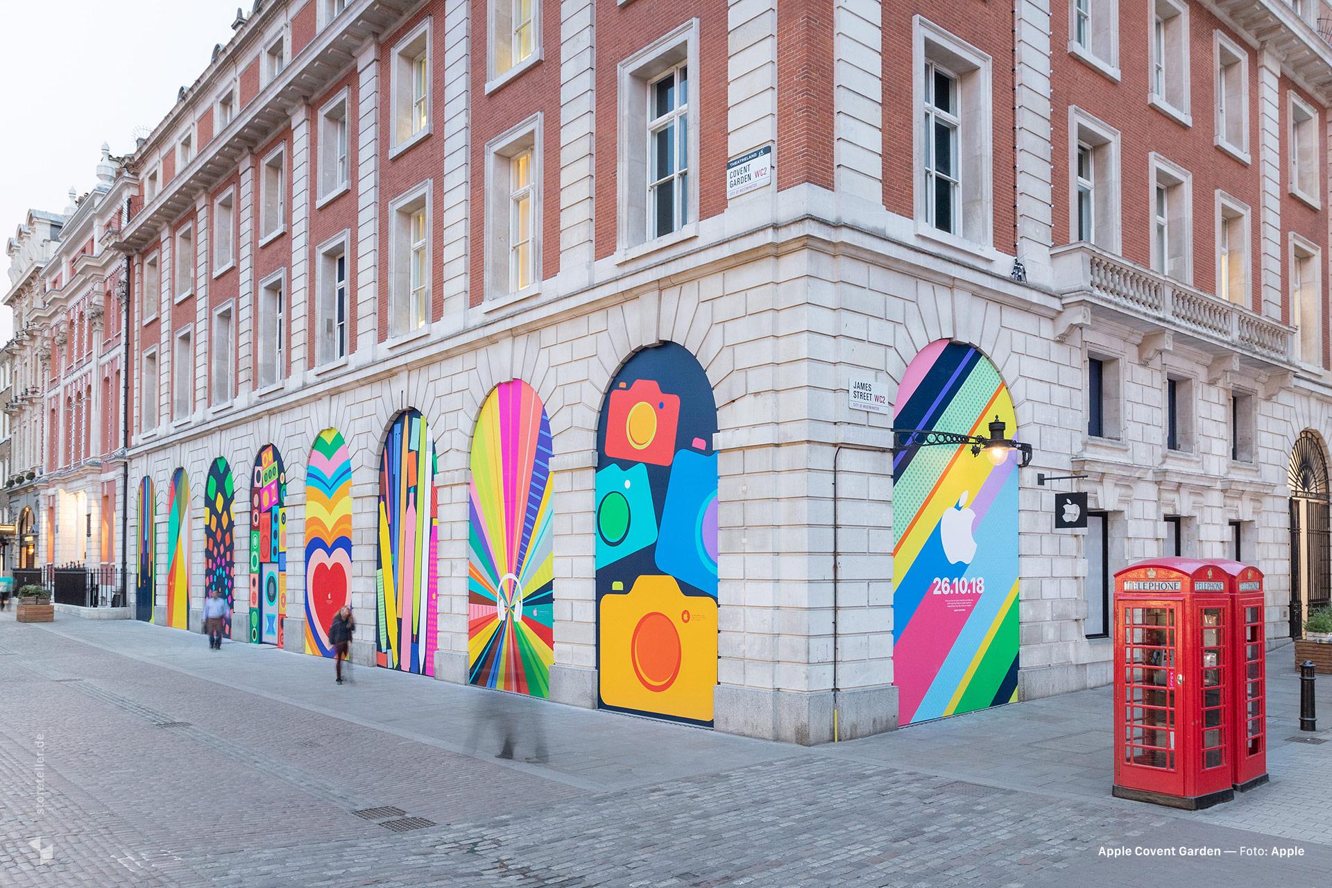 Parte externa da Apple Covent Garden