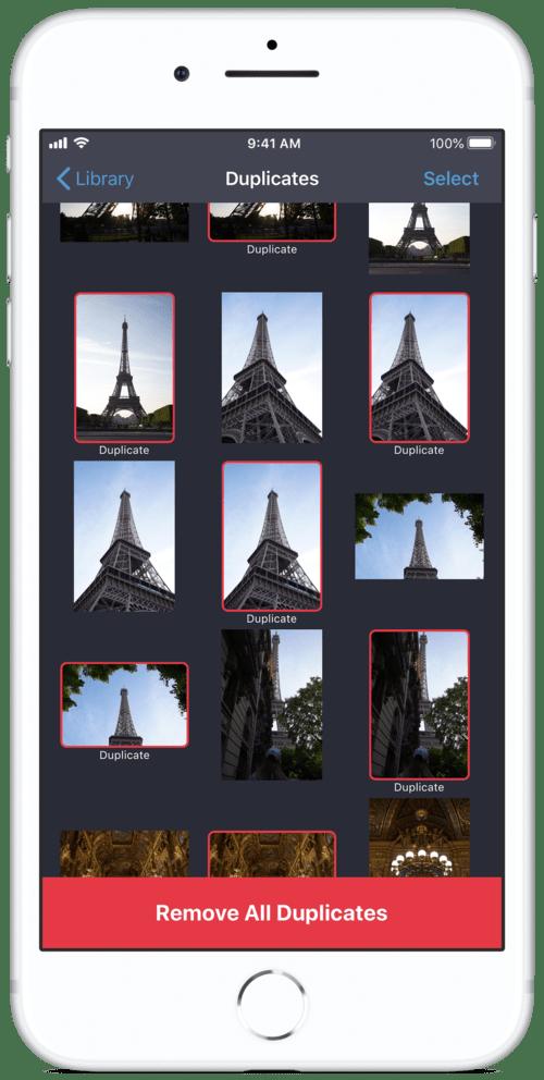 Imagens duplicadas