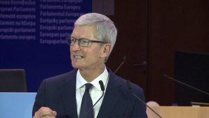 Discurso de Tim Cook durante Conferência na Bélgica