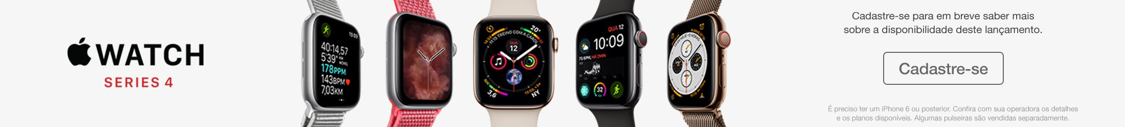 Banner do Apple Watch Series 4