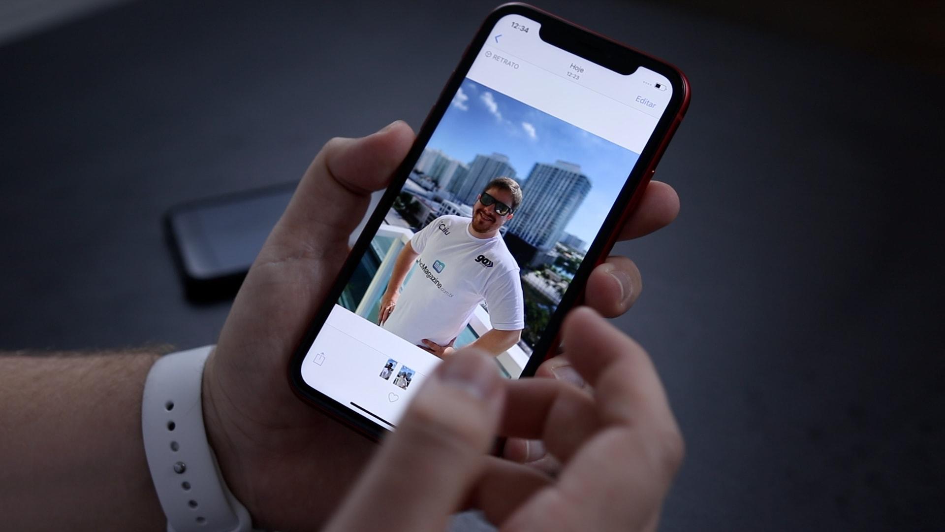 Vídeo sobre a câmera do iPhone XR