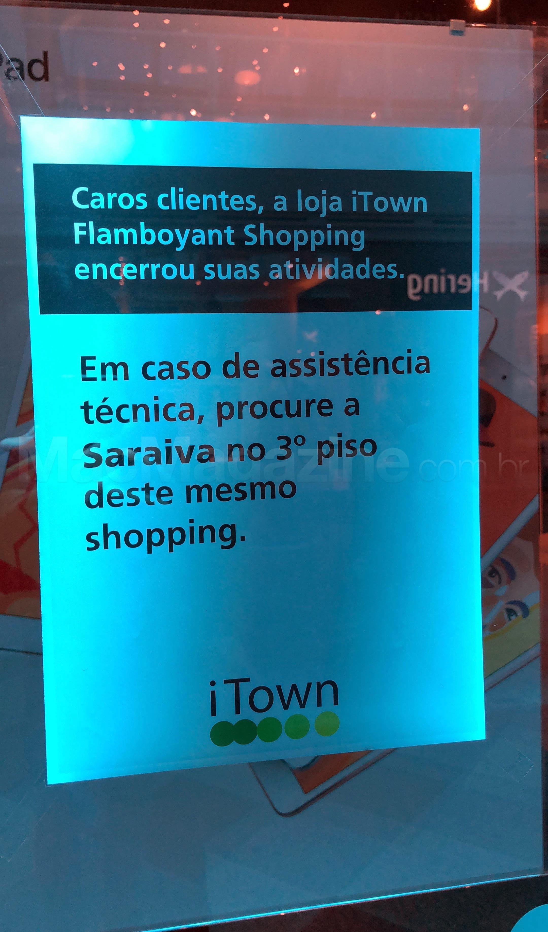 Loja da iTown fechada definitivamente
