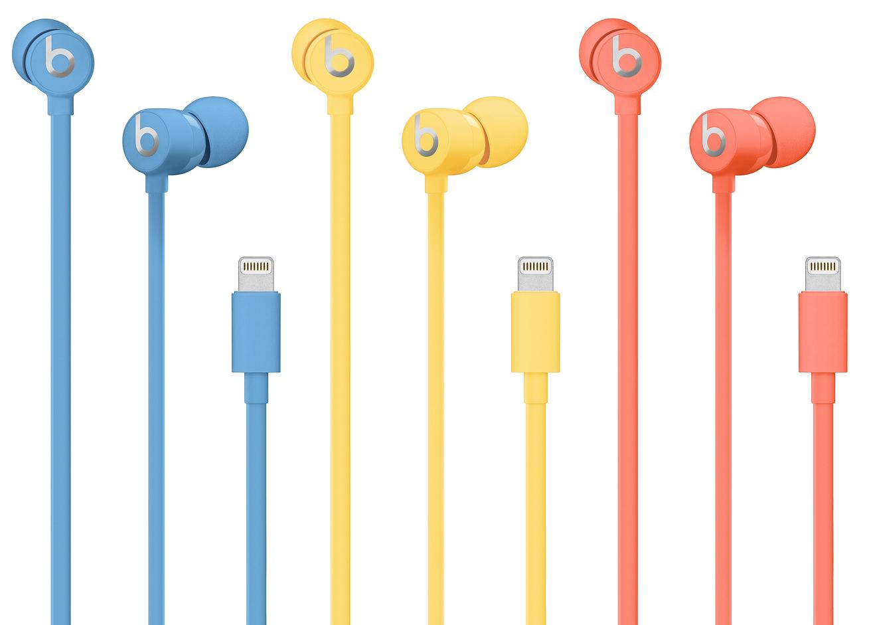 Novas cores dos fones urBeats 3 combinando com o iPhone XR