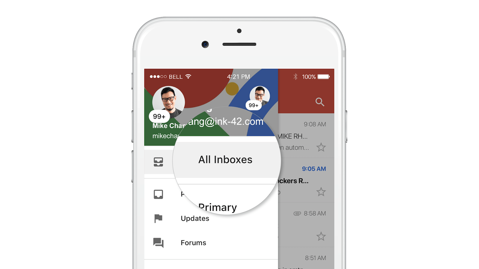 Caixa de Entrada unificada do Gmail