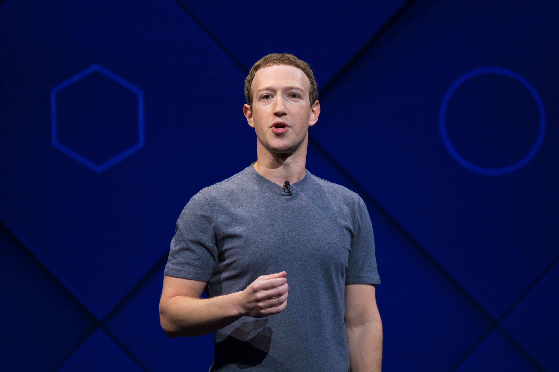 Mark Zuckerberg durante apresentação